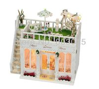 big dream houses - Big Size Kids Educational DIY Angel Dream House With LED Lamps Assembly House Toy for New Year Gift