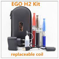 Cigarette électronique EGO H2 kit de démarrage Kit E-cigarette double Kit Ecig Ego-T 3.0ml h2 Atomiseur Ego gs h2 double vaporisateur de cigarette électronique