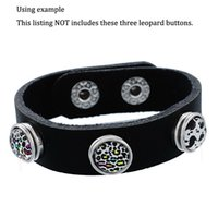 Wholesale Hot Jewelry Children Real Leather Bracelet Baby Kids Snap Button Bracelet Wrist Band for mm Buttons B378