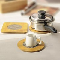 bamboo placemats - Creative bamboo placemats coasters insulation mat bowls mat table mats