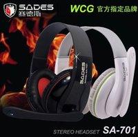 brand laptop - Professional Music Hifi Headphone Famous Brand Sades Deep Bass MP3 Headband Headset With Mic For Laptop Desktop Gaming Headphone