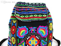 hippie bags - Tribal Vintage Hmong Thai Indian Ethnic Boho rucksack Boho hippie ethnic bag backpack bag L size SYS