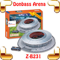 arena footballs - New Coming Gift Z B231 Bonbass Arena Stadium D Puzzle Building Model Football Stadium Pitch Paper DIY Soccer Souvenir Collected