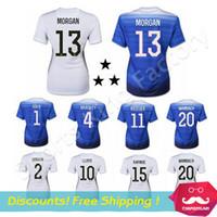 girls white shirts - Women soccer jersey Alex MORGAN Lady usa Girl LLOYD WAMBACH Female Shirt Away Blue Home White usa jerseys Emboridery three stars