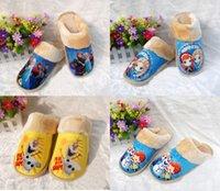 Wholesale 28pair styles Frozen warm shoes winter House Slippers men and women Olaf Elsa Anna plush Cotton slippers TT42313172592 HX