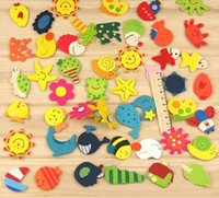Wholesale Fridge magnet children wooden toy cartoon animal refrigerator sticker colorful creative memo sticker hot selling