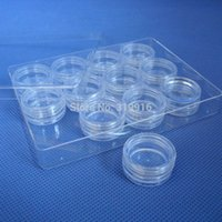 beverage container set - g pc set round Plastic Jewelry Tools Box Case nail art bottle container set