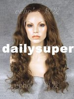 Wholesale Exports Ms fluffy big wave long hair wig lace front wig natural and realistic crochet invisible