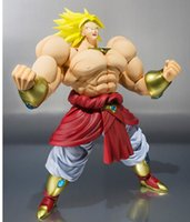 Wholesale Bandai S H Figuarts Broli Broly DRAGON BALL Z SHF Action Figure Brolly Super Saiyan Model Toy for collection Gift