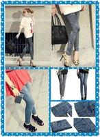 jeans wholesale price - 2015 Factory Price New women thin Ladies wild snow Denim jeans Leggings pencil pants nine Leggings antnmn winter warm Print Leggings L515