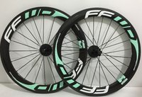 bianchi carbon - carbon road bike wheels MM Bianchi Green hot sale clincher bicycle wheelset novatec hub also can upgrade