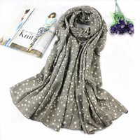 cotton shawls and scarves - Spring new Korea simple pastoral solid five pointed star female autumn and winter scarves cotton shawl long section of art