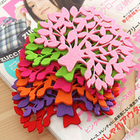 Wholesale hot sales multifunctional tree shape bowl pad heatproof Non woven fabri cup mat Table Decoration Accessories