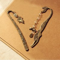 beaded bookmarks - European and American jewelry new retro mermaid beaded bow Bookmarks