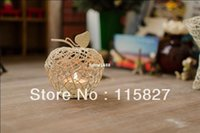 apple candle holders - New design Candle Holder Small Size Apple shape Metal Lantern Wedding decor Metal Candle Holder Christmas Gift