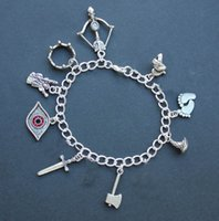 aragorn legolas - 12pcs Lord of the Charm bracelet Sauron eye feet Aragorn sword Legolas bow Gandalf Galadriel charm bracelet