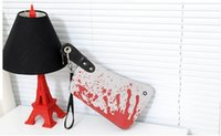 Wholesale Cleaver Clutch Bags D Blood Choppers Purse Handbag D print Fashion Cool Creative Phone Package Mans Womens Novelty Bags
