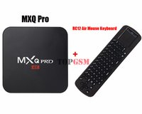 Included android hardware keyboard - MXQ Pro TV BOX Android Amlogic S905 Quad Core GB GB Bluetooth WIFI H Hardware Decording Media Player RC12 Keyboard