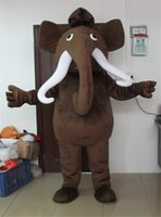 Wholesale Fashion Mammoth Mascot Costume Elephant Adult Size Fancy Dress Easter Party Outfit April Fools Day Suit
