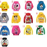 Wholesale Free DHL Terry Hooded Jumper Cartoon hoodies Children Despicable me Minnie Mouse Hoodie Outerwear Coat Kids Clothing Styles