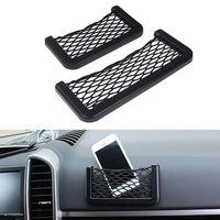 Wholesale Car Styling Car Storage String Bag Automotive Interior Net Organizer Pockets Net Pocket With Adversive Net Size S L