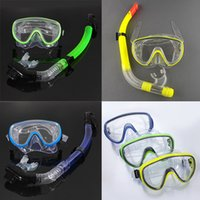 diving equipment - Swimming Swim Scuba Pro Anti Fog Goggles Mask Dive Diving Glasses Snorkel Snorkel Glasses Set Silicone Swimming Pool Equipment