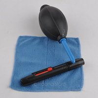 Wholesale 3 in Cleaning Kit Digital Camera Cleaning Supplies Air Blower Lens Cleaning Cloth Lens Cleaning Pen PDA1140