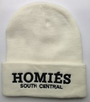 Cheap Wholesale-New Arrival Homies South Central Beanie Hats 3 colors Hip-Hop winter cotton knitted hats for men or women 1pcs free shipping