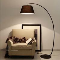 Wholesale E27 Base Modern Brief Fashion American Vintage Iron Bedside Floor Lamp Bedroom Study Indoor Home Lighting V