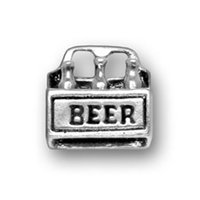beer symbols - Free Ship a Antique Silver Plated Beer Message Charms Beer Box Pendant for Square Letter Symbol Men Jewelry Souvenir Charm