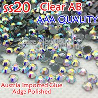 Wholesale Top Quality AAA MC HotFix Rhinestones SS20 Clear AB Crystal FlatBack strass glass stone For Clothing Accessories