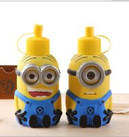stainless steel water bottle - 2015 Despicable Me Minions Water Bottles Vacuum Cup Stainless Steel Water Bottle Shape Christmas Gift Novelty Toy LJJA1924 A