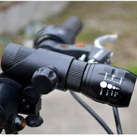 cree q5 bike light - Mini LED Head Lights W CREE Q5 LED Front Mount Bike Light Strong Lumens Adjust Focus Zoomable Torch light Waterproof Portable Flashlights