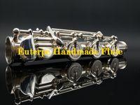 Wholesale OEM C Foot Drawn Tone Hole Handmade Silver Body Split E Alto Flute