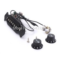 Wholesale 100 Brand New Copper Single Magnetic Coil Acoustic Guitar Pickup Parts Accessories Black order lt no tracking