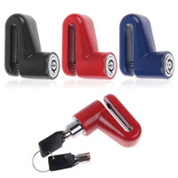 Wholesale New Red Blue Motorcycle Cycling Bike Bicycle Security Rotor Safe Disc Brake Wheel Lock Keys B064