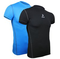 base layer - Quick dry short sleeve castelli jersey compression tight base layer men running fitness cycling bicycle jersey