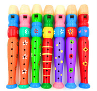 Wholesale Baby Classic Music Wooden Toy Rainbow Whistle Baby Toy Musical Instrument Kids Hobbies Fashion Pendant Gift