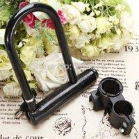 Wholesale Black Heavy Duty Bike Bicycle Motorcycle Scooter Guard Steel U Lock Bracket Key