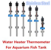 Wholesale 50w w w w w w Stainless Steel Aquarium Adjustable Water Heater Rod Submersible Thermostat Tropical Fish Tank