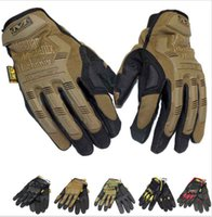 Wholesale Mechanix Wear M Pact Military Tactical Army Combat Shooting Bicycle Motorcross Paintball Full Finger Gloves for Camping Climbing Bick
