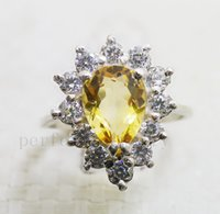 Cheap natural citrine ring Best gemstone ring