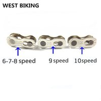 Wholesale 3 PC KMC Chain Magic Button speed speed speed Mountain Bike Road Bike Chain Buckle Reusable Bicycle Cycling Chain