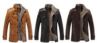 Wholesale Long Fur in the Fall Winter Men s Leather Motorcycle Jacket Jacket Korean Version Of Self and Velvet