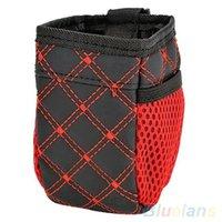 Wholesale Universal Red Grid Net Car Outlet Storage Bag Phone Holder Pocket Organizer