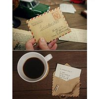 Wholesale one bag Mini Retro Vintage Postal Eiffel Tower Kraft Paper Envelope for Wedding Korean Stationery