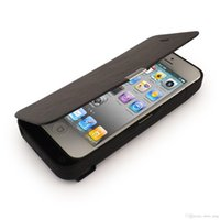 iphone 5 charger case - 4200mAh External Backup Battery Charger Power Pack Flip Cover Case with Viewing Stand For IPHONE S C IOS compatible Black