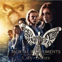 angels bones - 2016 The Mortal Instruments City of Bones Hell Deadly Hot Movie Jewelry Instrument Clockwork Angel Pendant Necklaces ZJ
