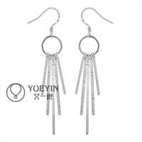 Cheap New Style Fashion 925 Sterling Silver EARRINGS Tassels Dangle Women's Silver Earrings Jewelry High Quality E026