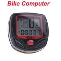 Wholesale New Arrival Functions Waterproof LED Sunding SD B Wired Bike Bicycle Computer Cycle Odometer Speedometer